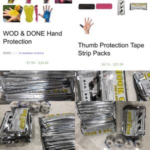 WOD & DONE Hand Protection KT TAPE NEW Crossfit